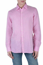Barba Napoli Dandylife Men's Pink Long Sleeve Dress Shirt US 15 15.5 16 16.5 17