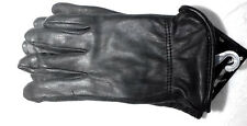 Ladies Deerskin Luxury Winter Driving Glove Black Lined 40 Gram Thinsulate
