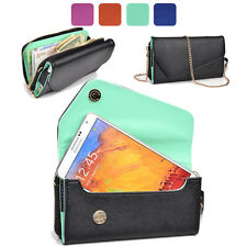 KroO Fad PU Leather Protective Wallet Case Clutch Cover for Smart-Phones XLUB2