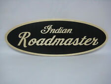 NEW GENUINE AMI INDIAN ROADMASTER MOTORCYCLE WOOD NAMEPLATE SIGN GARAGE MANCAVE