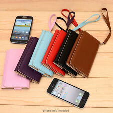 PU Leather Protective Wallet Case Clutch Cover for Smart-Phones ESMXWL-26