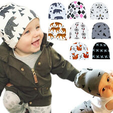 Newborn Kids Cute Knit Crochet Hat Infant Baby Girls Boy Warm Beanie Bonnet Cap