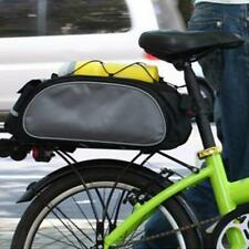 Bicycle Rear Seat Trunk Bag Handbag Pannier Bike Rack Bag Saddle Bag Black/Blue