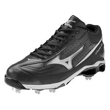 Mizuno Classic G6 Mid Switch Baseball Cleats/Spikes in Black/White Size 13