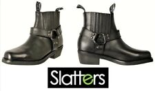Mens leather Motorcycle boots Slatters shoes Rebel