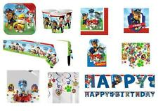 PAW PATROL Party & Tableware Items, Plates, Cups, Napkins, Balloons