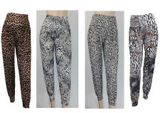 WOMEN FULL LENGTH ALI BABA HAREM PRINTED PANTS TROUSERS BAGGY LEGGINGS-SIZE 8-14