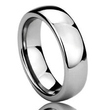 Men Women 6MM Titanium Comfort Fit Wedding Band Ring High Polished Classy Domed