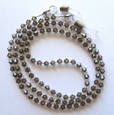 Brown Swarovski Crystal Eyeglass Holder Glasses Specs Cord Strap Chain Leash