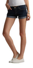 aeropostale womens dark wash cuffed denim midi shorts dark wash