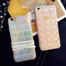 Luxury Laser 3D Loving Heart Soft TPU Silicone Phone Case For iPhone 6 6s Plus
