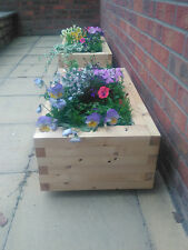 Large timber planters Herbs Flowers - solid wood garden planter - Flower pot