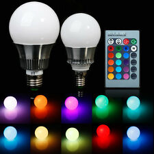 E27 5W 10W RGB LED Light Bulb Color Changing Lamp with Remote Control 85-265V