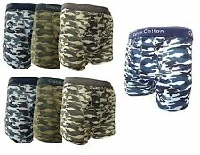 3,6 PAIRS MENS ARMY BOXER SHORTS CLASSIC SOFT COTTON  UNDERWEAR BRIEFS
