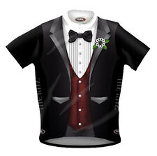 Primal Wear The Ritz Red Vest Tuxedo Cycling jersey Men's Short Sleeve with Sox