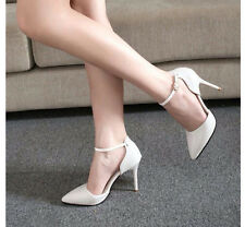 Chic Lady Women High Heels Shoes Ankle Strap Pointed Toe Sandals Stilettos Pumps