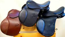 """13"""" BLACK TAN BROWN All Purpose Youth Kids English EVENT JUMP Leather Saddle NEW"""