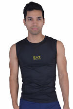 "Emporio Armani EA7 ""Tech M"" Black Stretch Athletic Tank Top Size S M L XL"