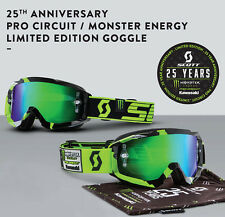 NEW 2016 SCOTT HUSTLE PRO CIRCUIT MONSTER LE GOGGLES LENS OFFROAD MX DIRTBIKE