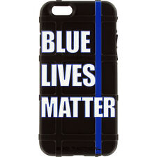 Magpul Field Case for iPhone SE,4,5,5s. Custom Blue Lives Matter, Police