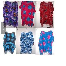 NEW WITH TAGS OSFA HAWAIIAN PRINT PONCHO COVERUP pic color / print