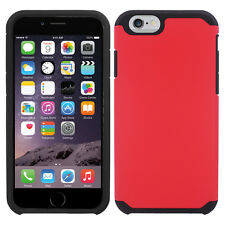 Red Dual Layer Slim Hybrid Cover Protector Phone Case Apple iPhone 5/5S SE