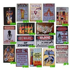 Beer And Wine Metal Tin Signs Decor Shop Pub Bar Home Wall Retro Cafe Art Poster