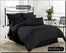 Brand New 1000 800 TC 100%Egyptian Cotton UK Hotel Bedding's in Black Striped