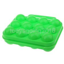 Shatter-Proof Egg Storage Box for 12 Eggs Holder Camping Egg Carrier