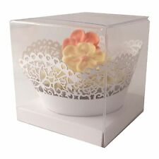 Clear Single Cupcake boxes: 70mm : white inserts - premium quality: 10 | 20 | 50