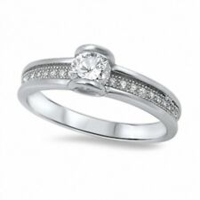 Solitaire Dazzling Wedding Engagement Ring 925 Sterling Silver 1CT Russian CZ