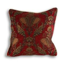 HEAVY WEIGHT BURGUNDY TAPESTRY PERIOD STYLE CUSHION COVER  17 x 17 or 22x22 ins.