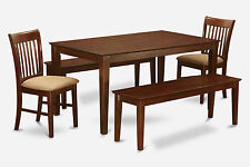 5 Piece dining room table set-Dining table and 4 dining chairs