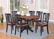 5 Piece dining table set for 4-Oval dinette table with Leaf and 4 Dining Chairs