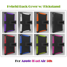 Shockproof Hybrid Silicon+Plastic Hard Back KickStand Cover for Apple iPad Air