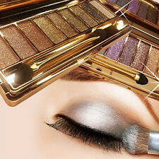 9 Color Shimmer Cosmetic Eyeshadow Eye Shadow Palette & Makeup Brush Set Fashion