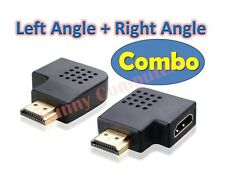 HDMI Female to Male 90 Degree Left Right Angle Vertical Flat Adapter Connector