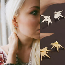 Women Punk Gothic Snowflake Fashion Ear Cuff Wrap Stud Earrings Jewelry 3 Color