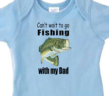 "BLUE BOYS ""Can't Wait To Go FISHING with My DAD"" Bass Fishing Youth T-Shirt"