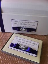 IVORY/WHITE PERSONALISED BUTTERFLY WEDDING POST BOX CHEST & GUEST BOOK GIFT SET