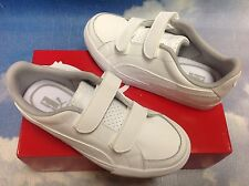 Puma Kids Court Point V White Leather Tennis Shoe Toddler Size 7 to Kid Size 2.5