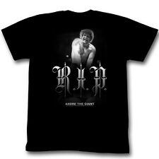 Andre The Giant T-Shirt - R.I.P. Wrestling Black Adult Tee Shirt