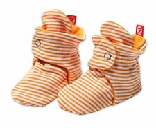 NEW ZUTANO Candy Stripe Cotton Baby Booties - Orange FREE SHIPPING