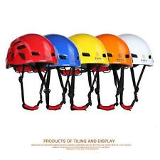 Safety Rock Climbing Tree Carving Downhill Rescue Helmet Gear Equipment @
