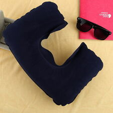 Soft U-Shaped Inflatable Travel Pillow Air Cushion Neck Rest Compact Flight New