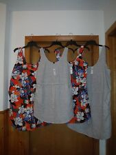 Sleeveless Linen  Dresses GAP 2XL,XL,M,S, Gray striped & Multi Floral  NWT