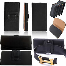 HOLSTER LEATHER BELT HORIZONTAL CLIP PHONE POUCH CASE COVER FOR SAMSUNG Mobile