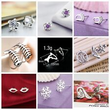 9pairs Fashion Jewelry Women girls Silver plated mini Earrings Ear Stud korean