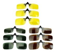 Polarized Day Night Vision Flip-up Clip-on Lens Eyewear Driving Glasses Sunglass