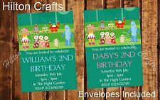 In The Night Garden Personalised Party Invites Birthday Invitations